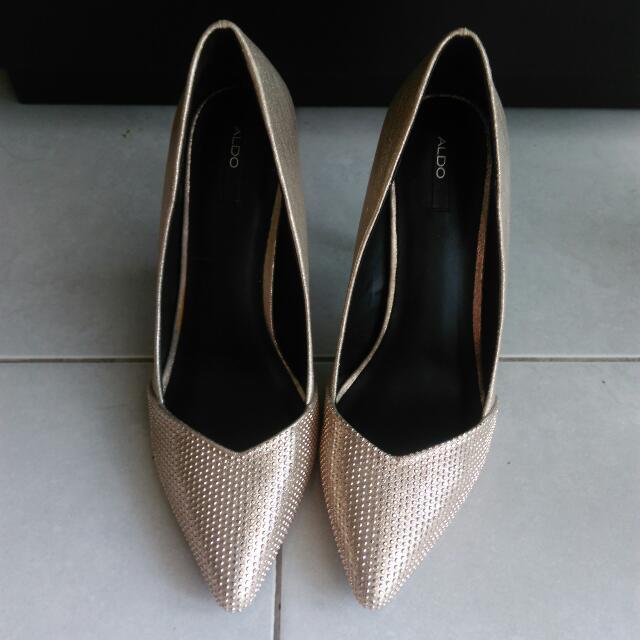 88f3d9342d6 Aldo Gold Wedding Shoes  take5off