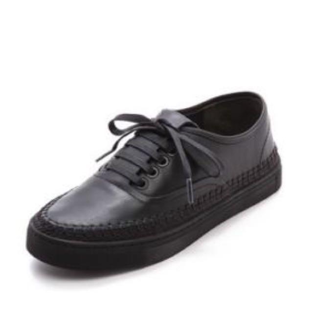 Alexander Wang Black Leather Jess Sneakers EU38