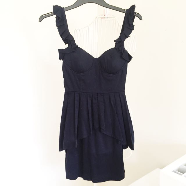 Ask Grace Navy Bodycon Dress