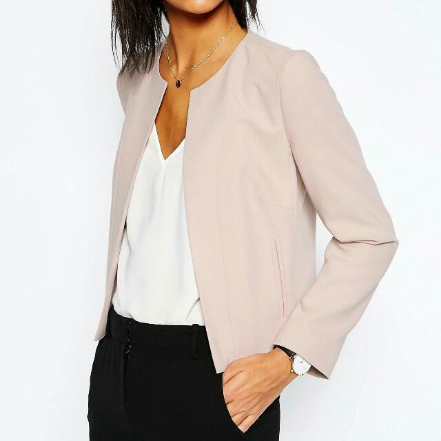 Asos Cropped Tailored Blazer