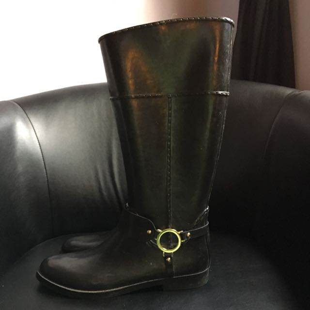 Black With Gold Hardware, Rain boot