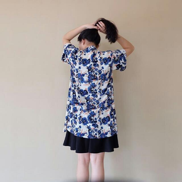 Blue Floral Outer