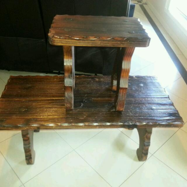 Coffee Table And Stool