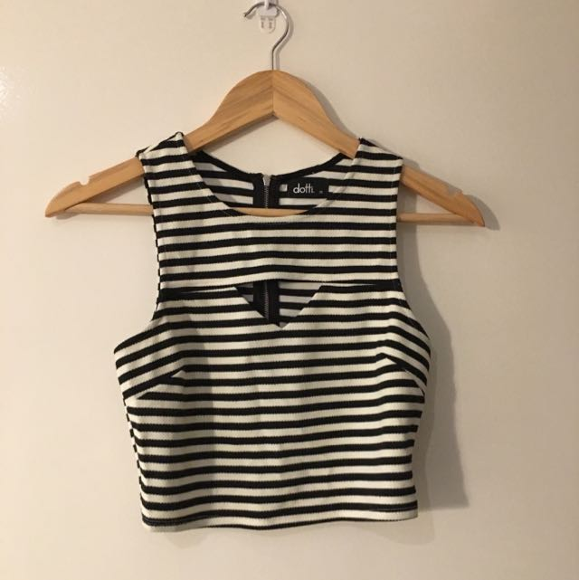 Dotti Striped Crop Top