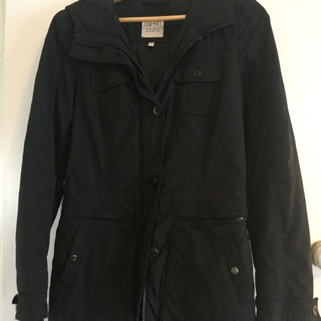 Esprit Waterproof Winter Jacket Black Size 8