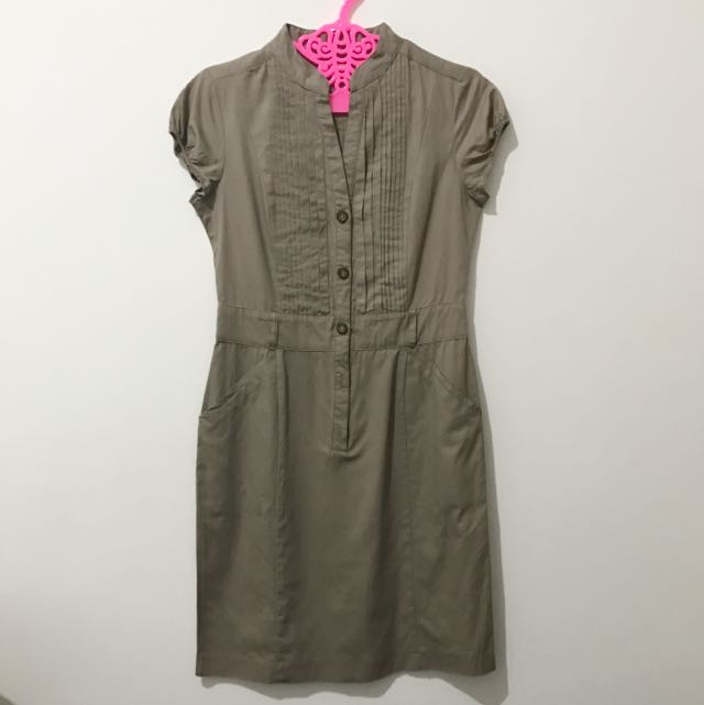 ET CETERA Brown Dress