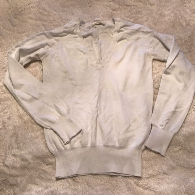 Forever 21 White Fitted Long Sleeve Shirt