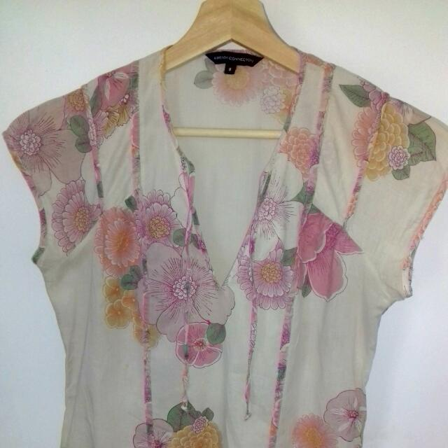 FRENCH CONNECTION Cute floral Summer Dress Size 8