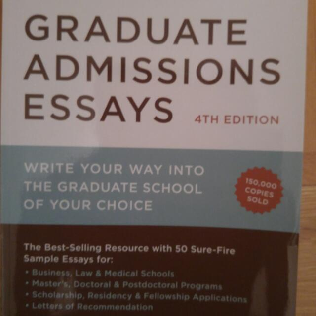 Graduate Admission Essays 4th Edition By Donald Asher