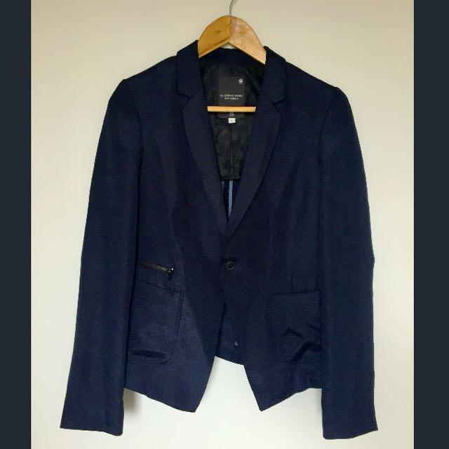 G-STAR Raw Navy Blue Blazer