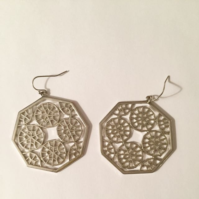 GUESS Silver octagon Earrings