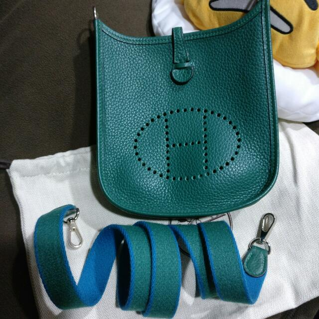 7c79e845db46 ... kelly cut clutch handmade bag a02fa 3a0a6  coupon code for hermes  evelyne mini tpm in malachite blue izmir luxury bags wallets on carousell