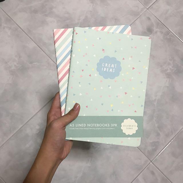 """kikki k """"celebrate today"""" a5 lined notebooks"""