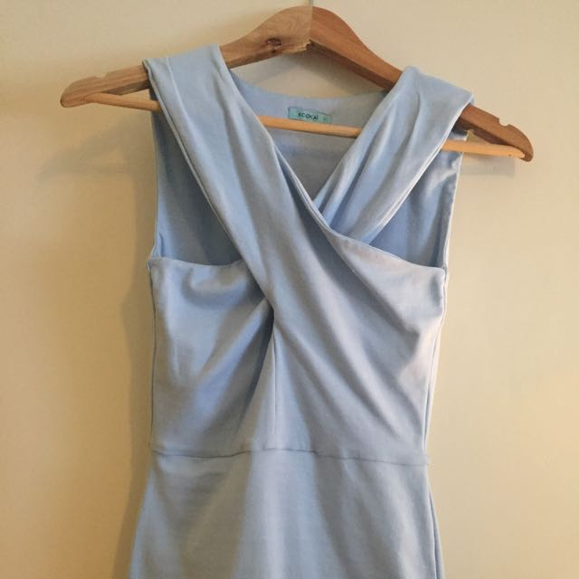 Kookai Light Blue Crossover Top Size 1