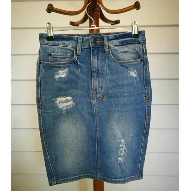 Ksubi Denim Skirt Size 8