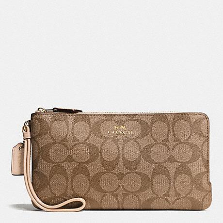 Large Coach Double Zip Wallet