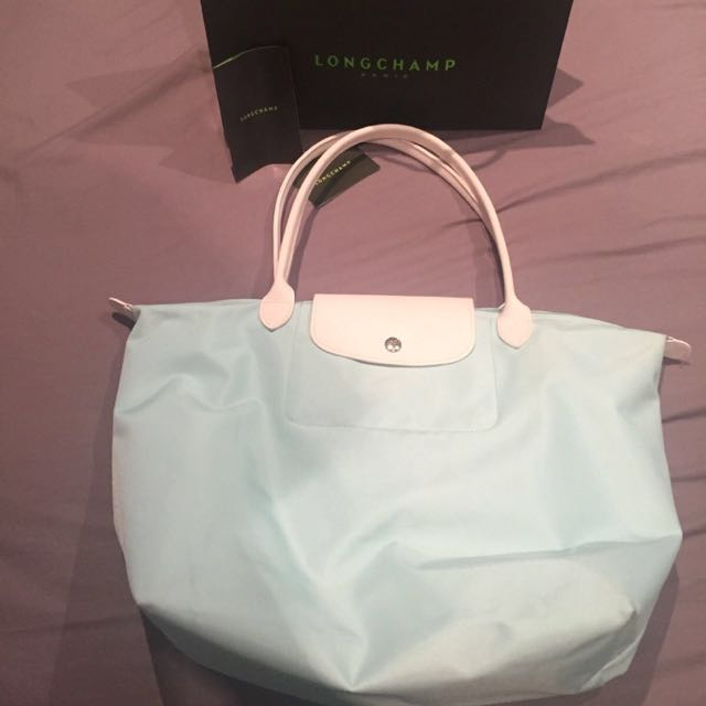 Longchamp Le Pliage In Robin's Egg Blue (Tiffany Blue)