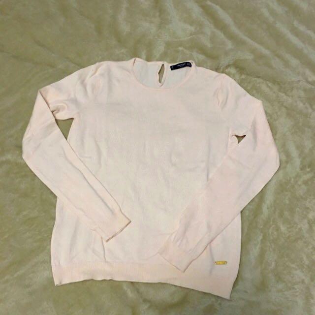 Mango 粉色針織上衣