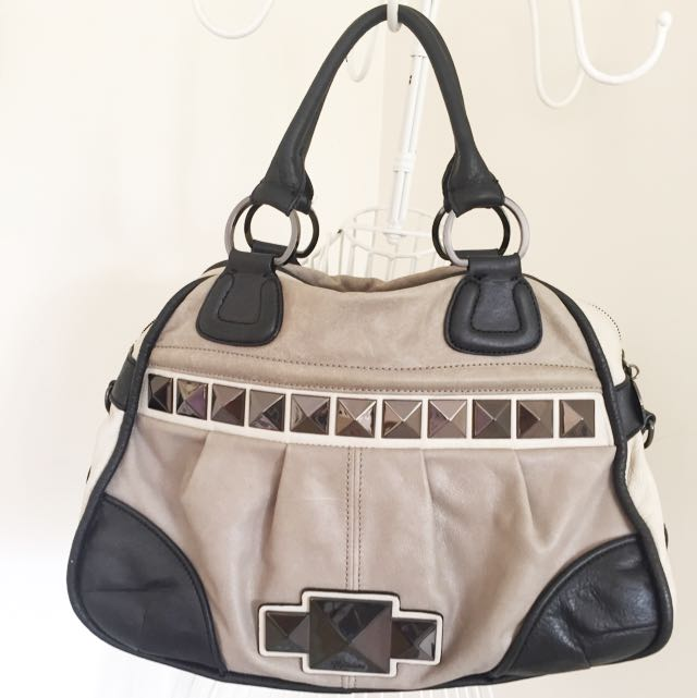 Marciano Grey/black Leather Bag