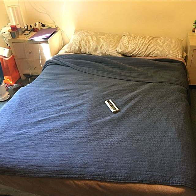 Mattress And Base With Free Bedside Tables