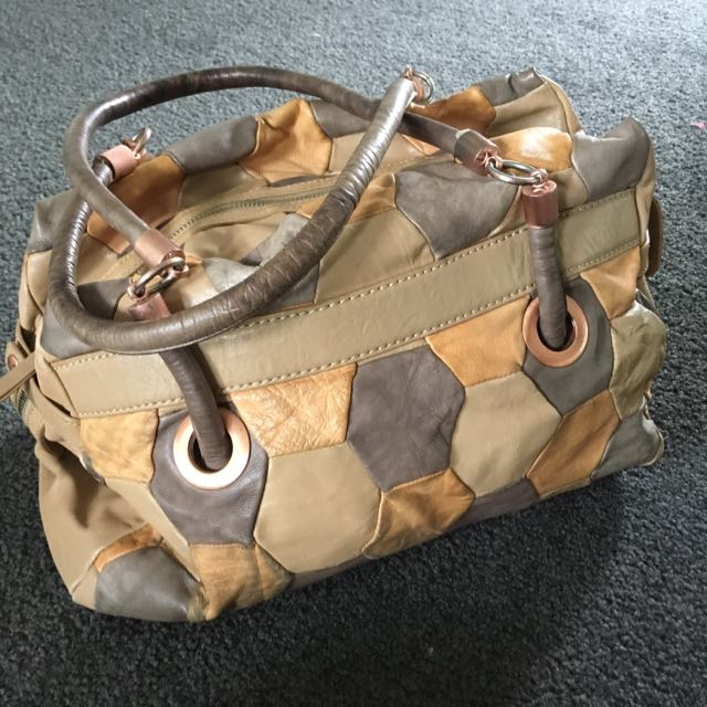 Mimco Leather Patchwork Bag