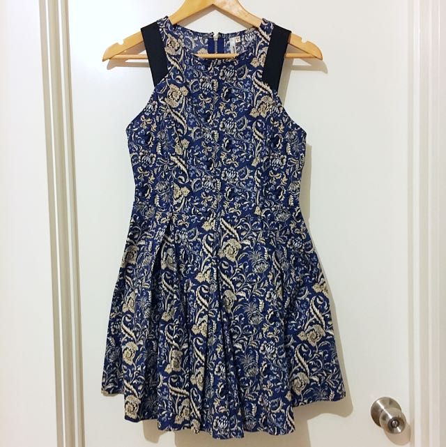 NAVY dress with gold detail