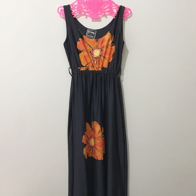 NEW - Navy Orange Maxi Dress