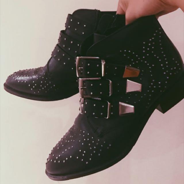 ⚡️NEW Tony Bianco Brooke Black Studded Leather Boots