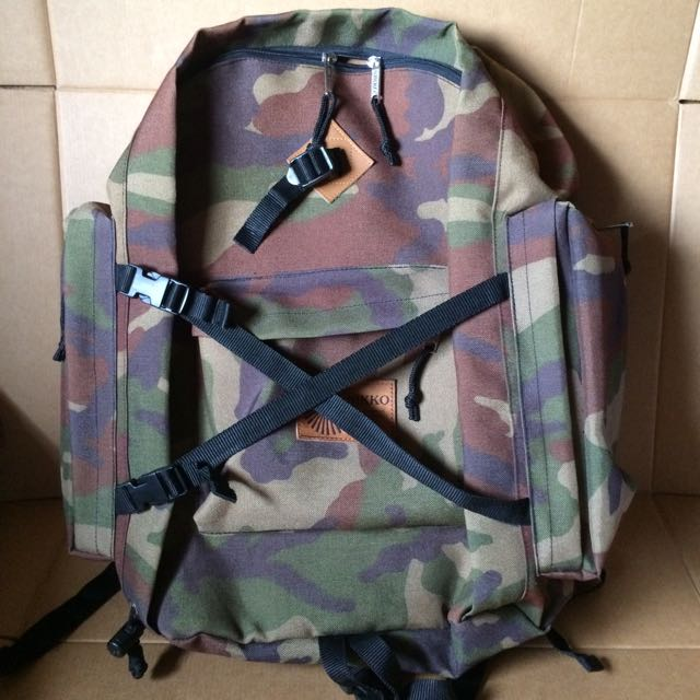 Nikko Camping Equipment Camouflage Backpack