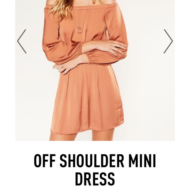 Off The Shoulder Silk Dress