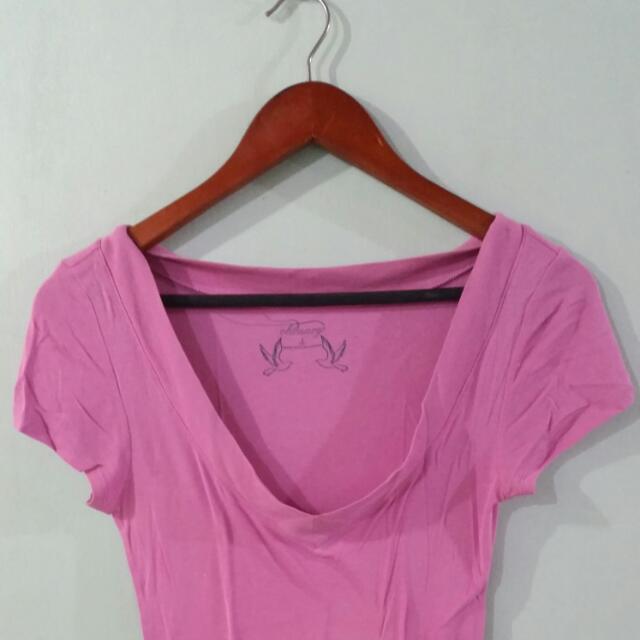 Old Navy Deep V-neck Shirt (Purple)