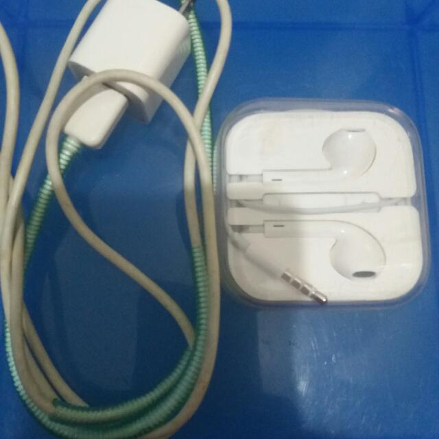 org charger ipon4s apple earpone