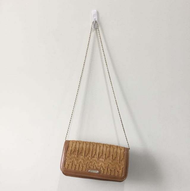 PEDRO Clutch Or Sling Bag High Quality In Light Brown