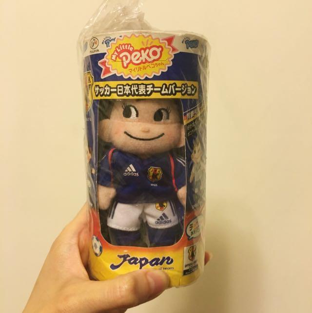 🌟日本購入🌟絕版不二家足球日本代表隊公仔(peko/poko)
