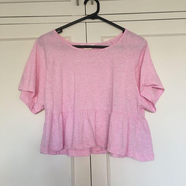 Pink Pep Up Tee Size S Gorman