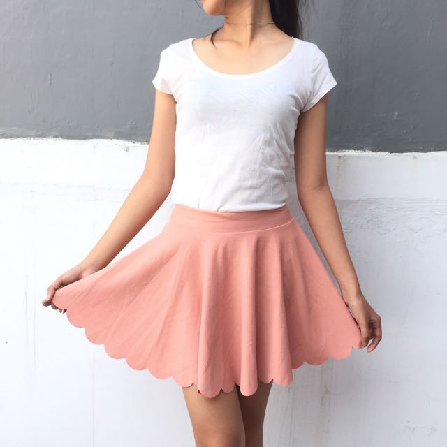 Pink Scallop Skirt