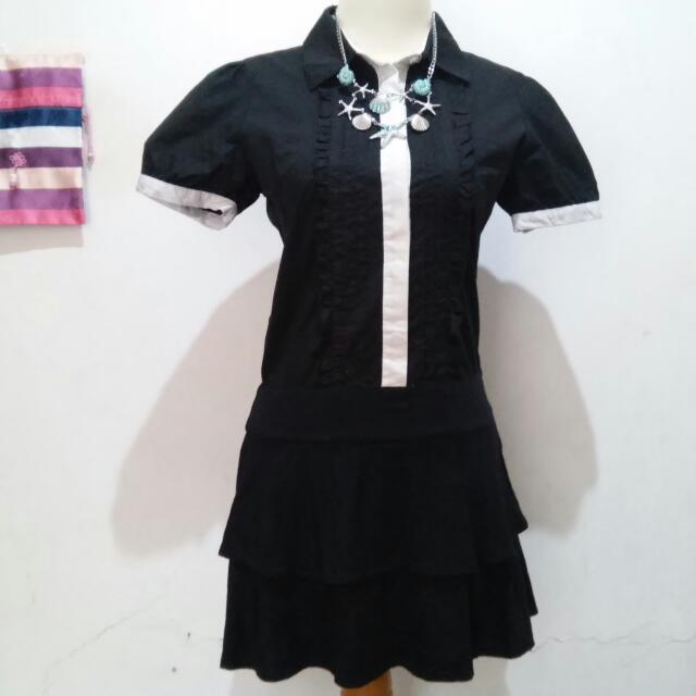 Pinky Girls Lolita Black Dress