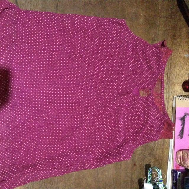 Purple Polka Dots Blouse