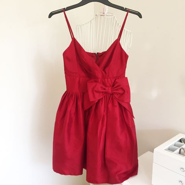 Red Dress With Bow