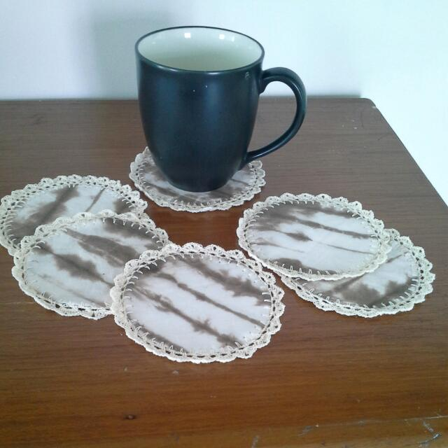 Shibori Crochet Coaster 6 Pcs