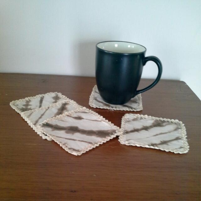 Shibori Square Crochet Coaster 5pcs