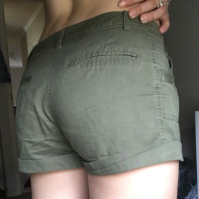 Tempt Olive Green Shorts