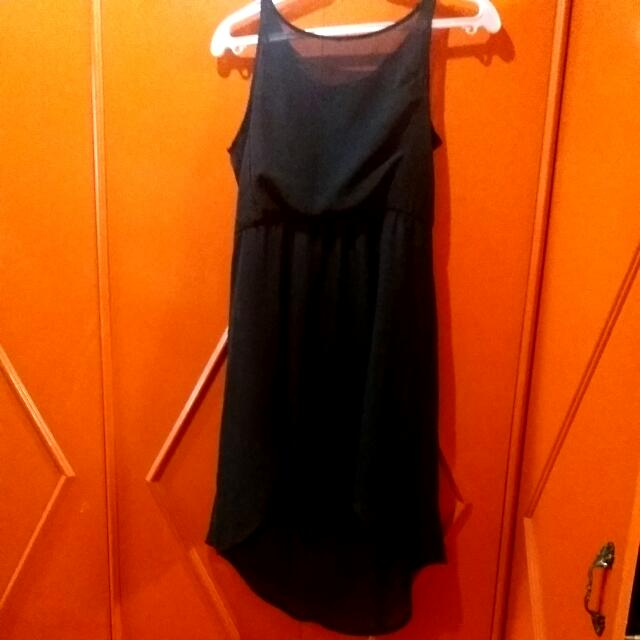 Terranova Black Chiffon Backless Dress