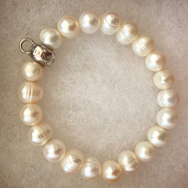 **Reduced** THOMAS SABO Fresh Water Pearl Charm Bracelet Sans Charm