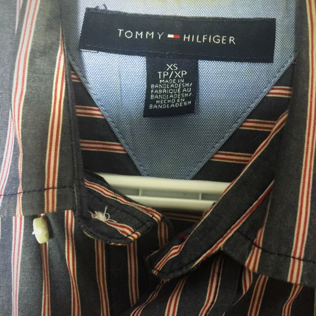 d5dc86de Tommy Hilfiger dress shirt Xs - Fancy & Stylish Pink Line Pattern ...