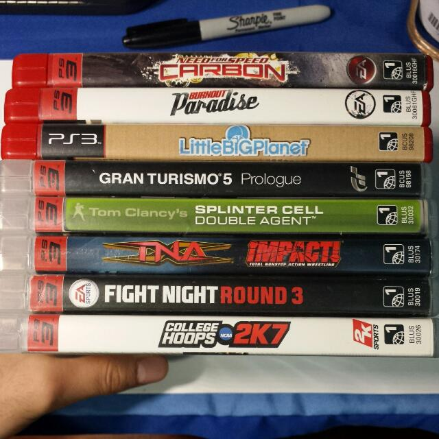 Various Used PS3 Games