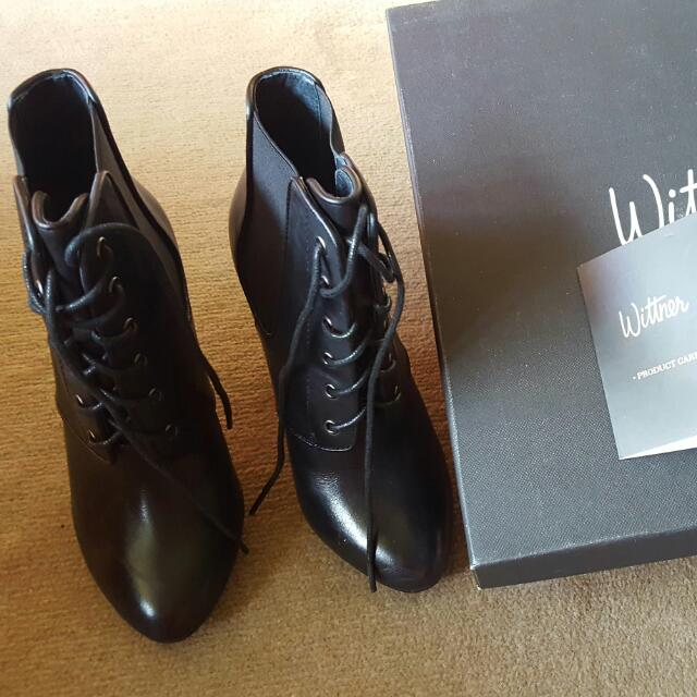 Wittner Leather Ankle Boots Size 35