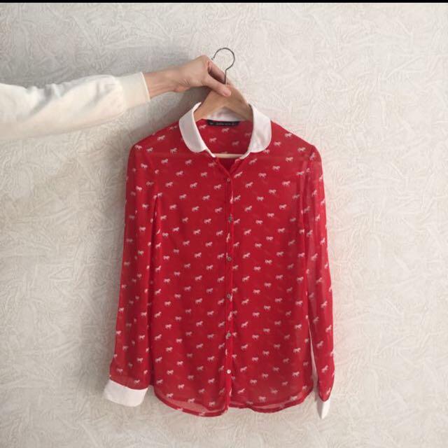 ZARA | Horse Pattern Shirt