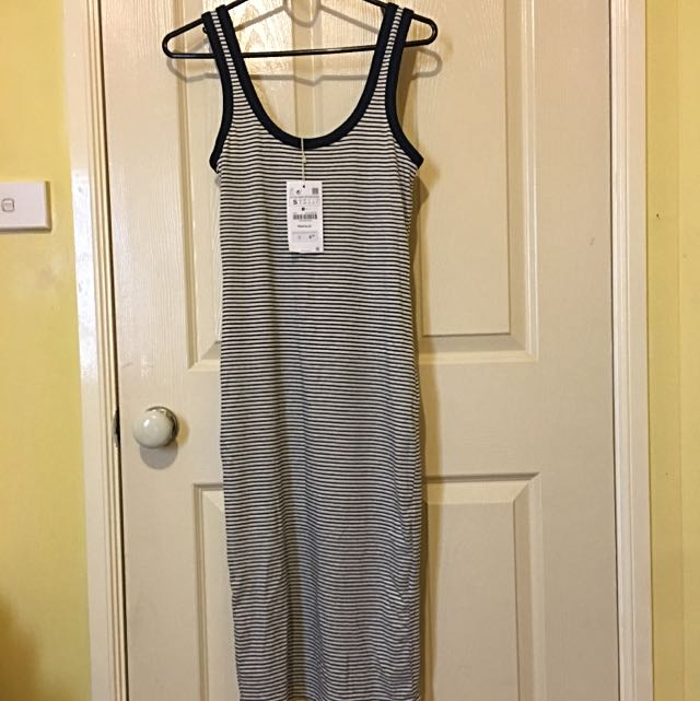 Zara stripe Midi Dress - Size S