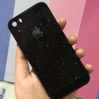 Black Gold Glitter Case